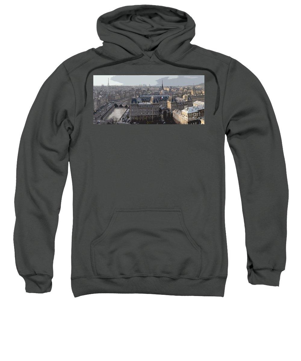 Paris Sweatshirt featuring the photograph Paris 01 by Yuriy Shevchuk