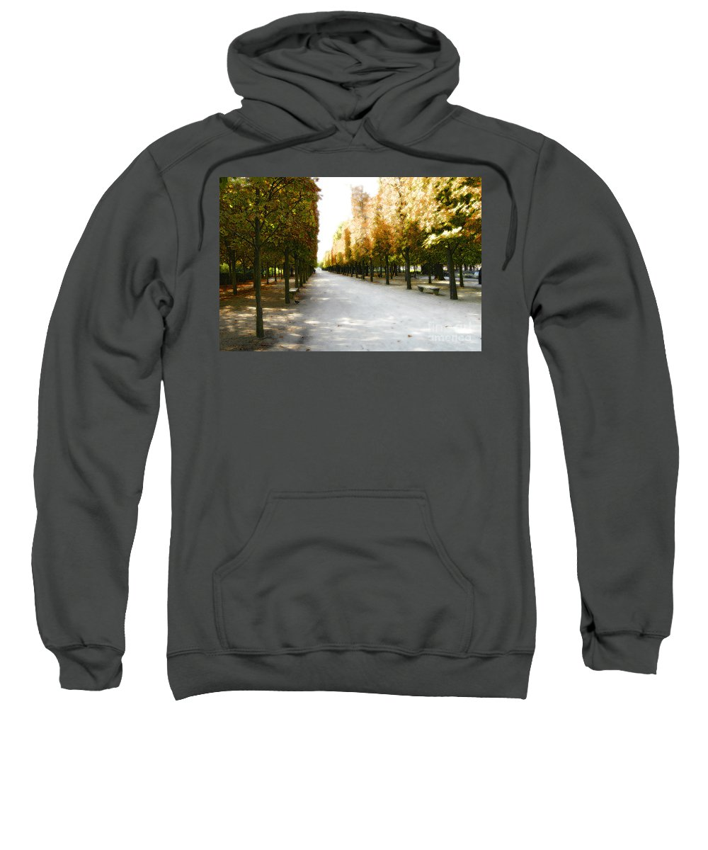 Paris Sweatshirt featuring the photograph Parisian Park Walkway by Mike Nellums