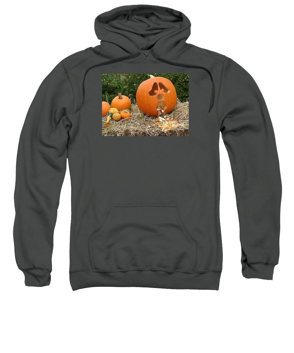 Pumpkins Sweatshirt featuring the photograph Party Pumpkin by Living Color Photography Lorraine Lynch