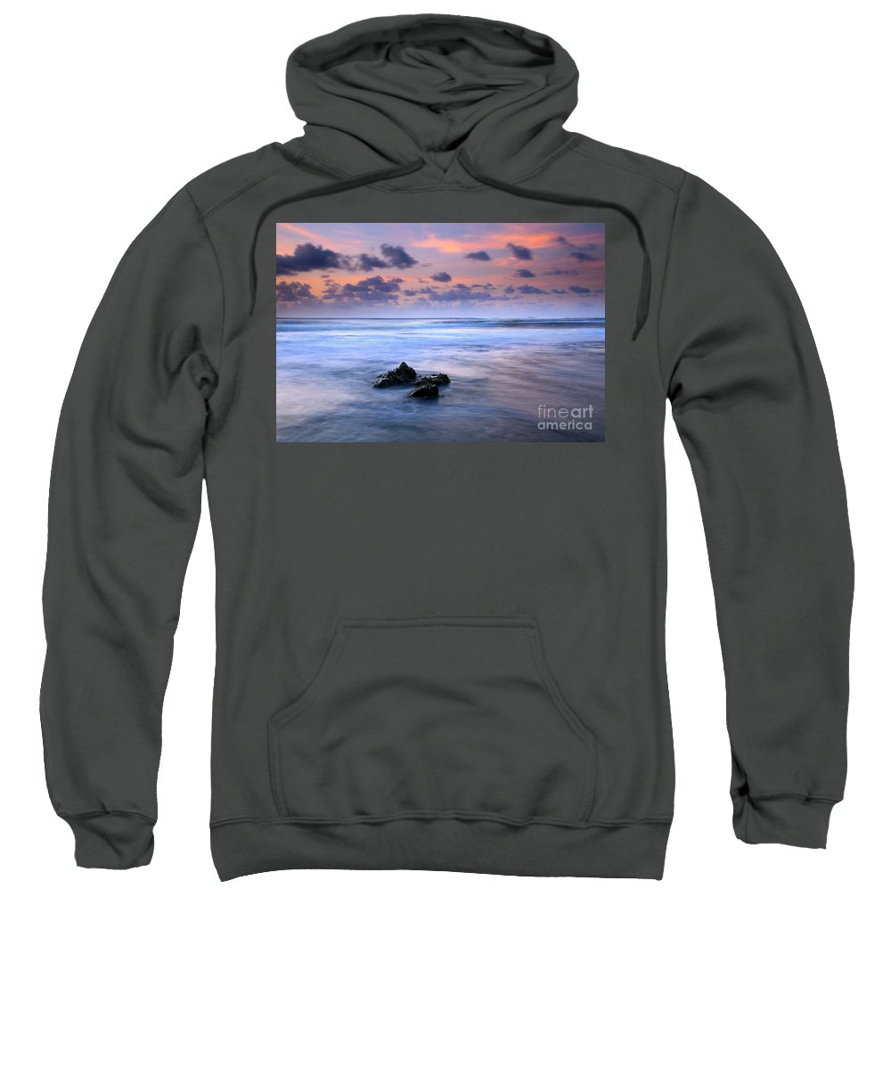 Tunnels Beach Sweatshirt featuring the photograph Pastel Tides by Mike Dawson