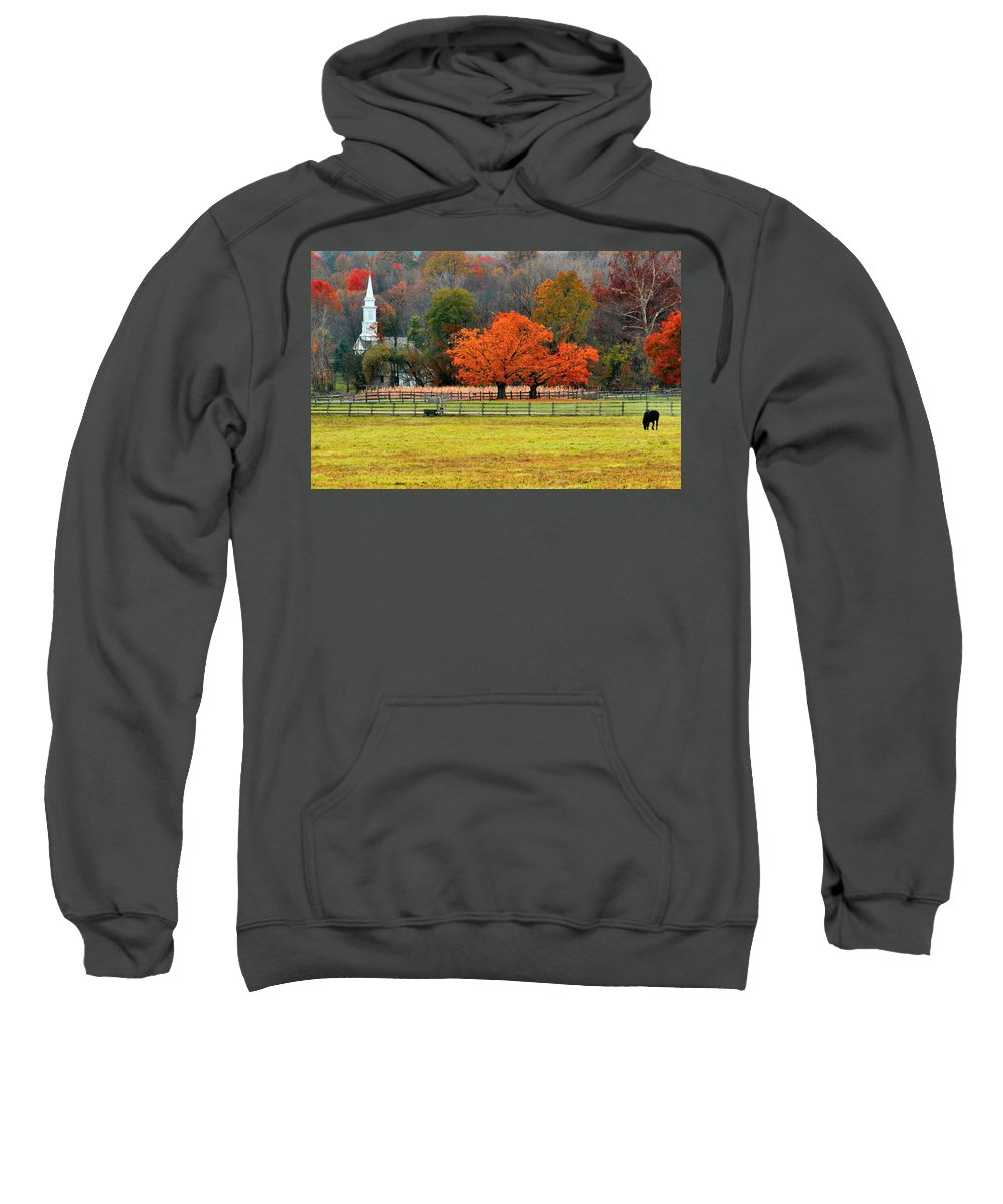 Autumn Sweatshirt featuring the photograph Pastoral Autumn by Kristin Elmquist