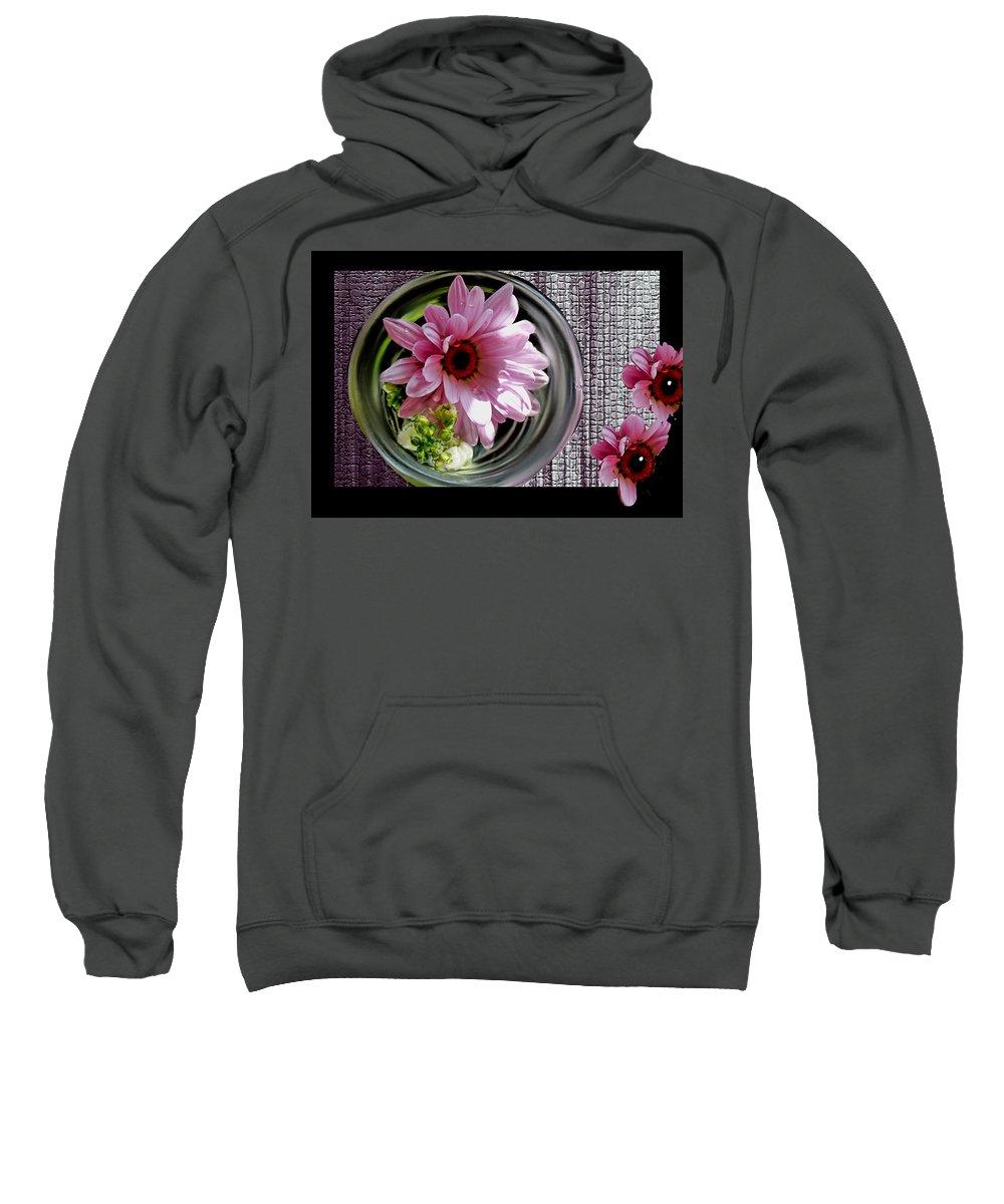 Daisy Sweatshirt featuring the photograph Peeking Eyes by Bonnie Willis