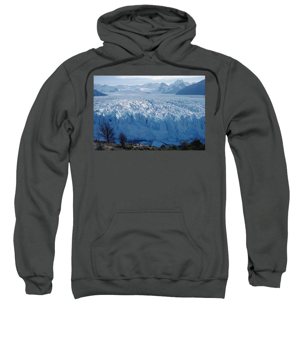 Argentina Sweatshirt featuring the photograph Perito Moreno Glacier, Tourist Overlook by Tui De Roy