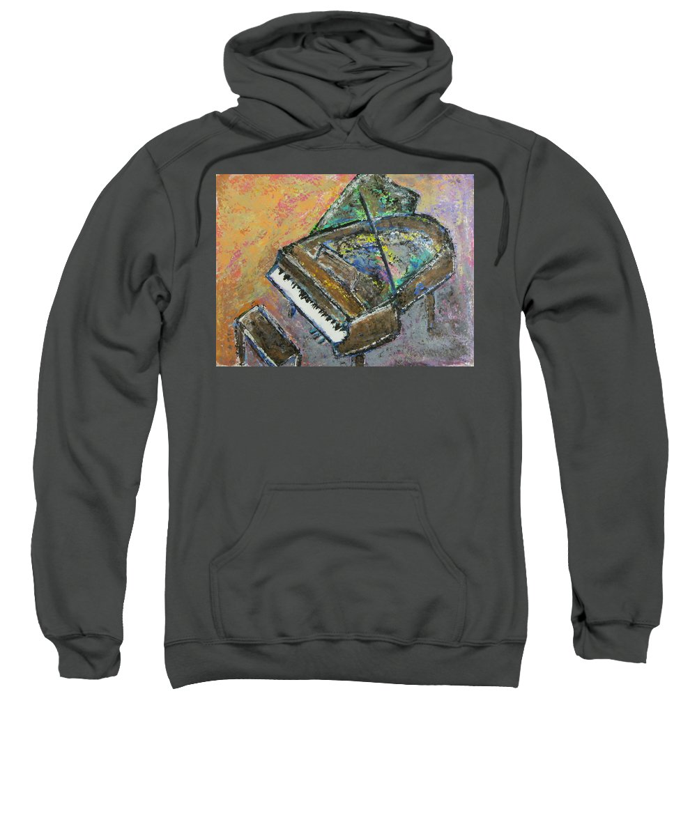 Piano Sweatshirt featuring the painting Piano Study 4 by Anita Burgermeister