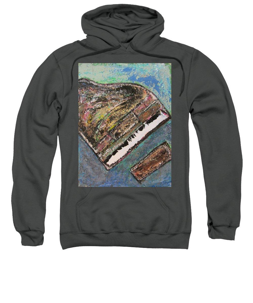 Piano Sweatshirt featuring the painting Piano Study 7 by Anita Burgermeister