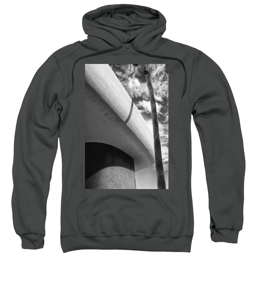 Bank Sweatshirt featuring the photograph Piece Of The Sky Bw by William Dey