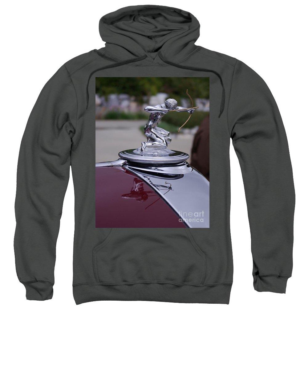 Pierce Arrow Sweatshirt featuring the photograph Pierce Arrow Hood Ornament by Jim And Emily Bush