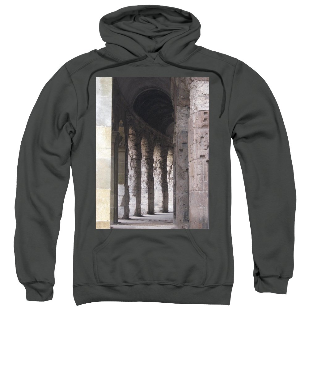 Pilars Sweatshirt featuring the photograph Pilars In Rome by Catie Canetti