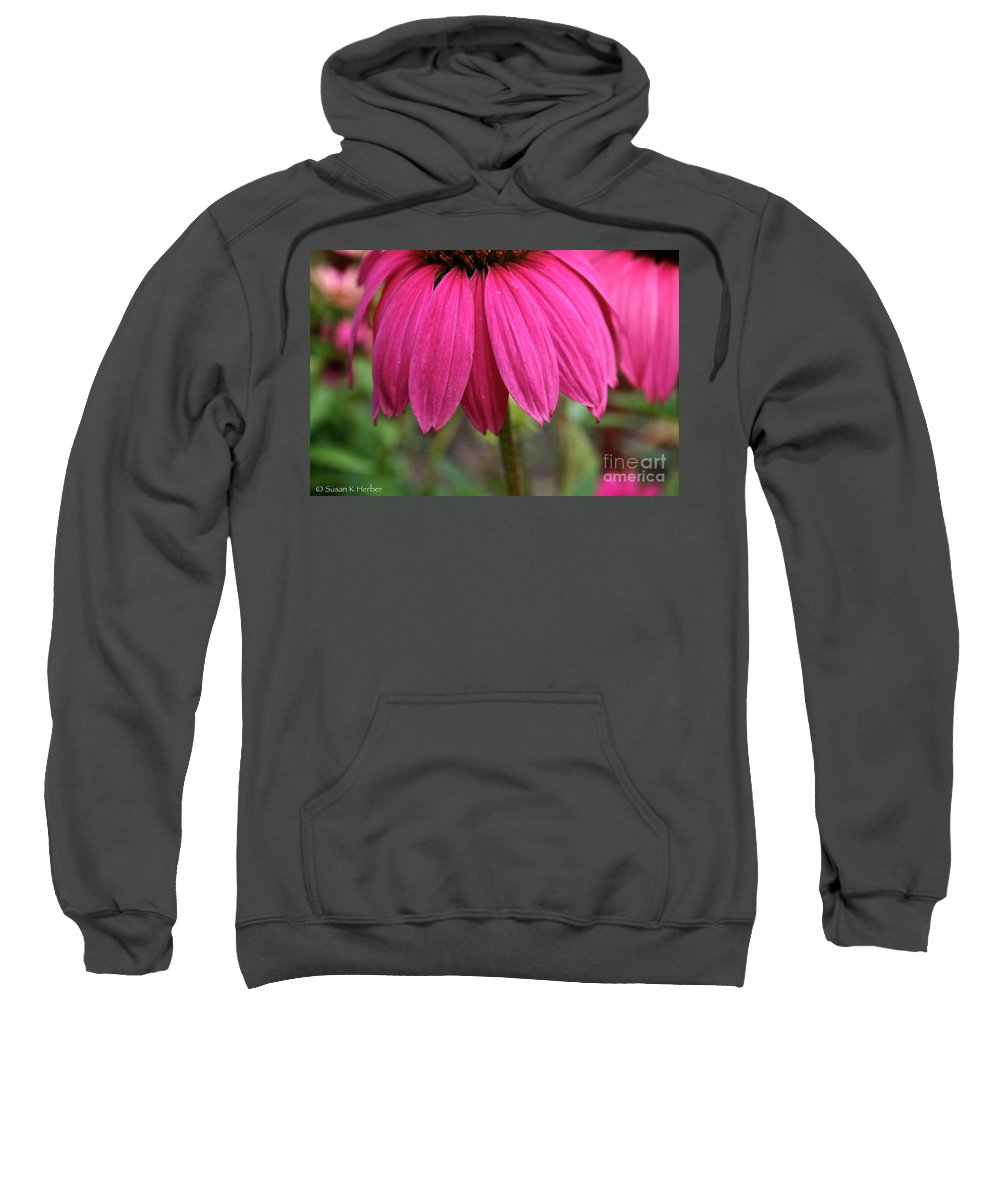 Plant Sweatshirt featuring the photograph Pink Skirts by Susan Herber