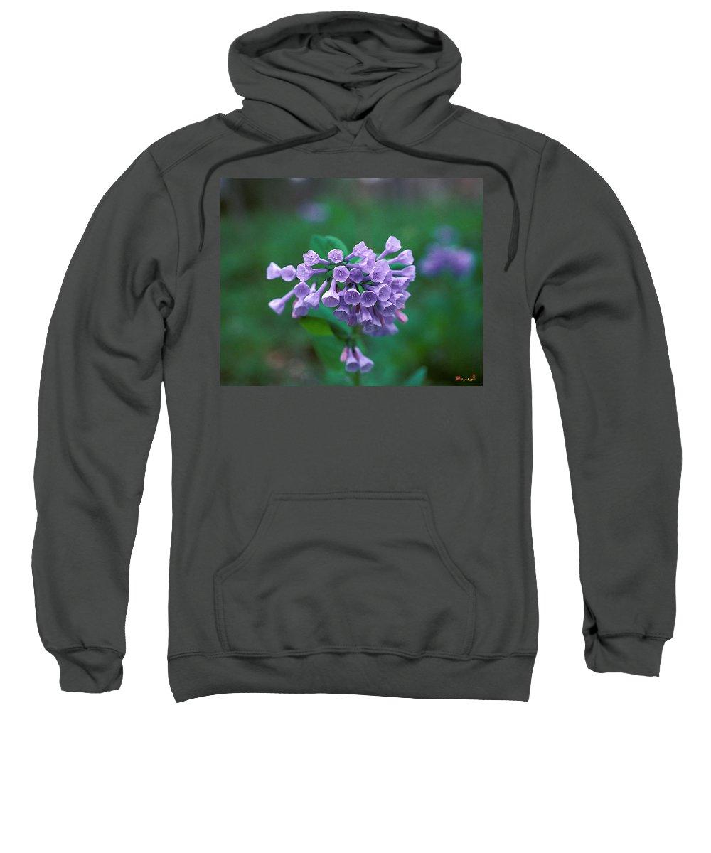 Pink Virginia Bluebells Sweatshirt featuring the photograph Pink Virginia Bluebells 1c by Gerry Gantt