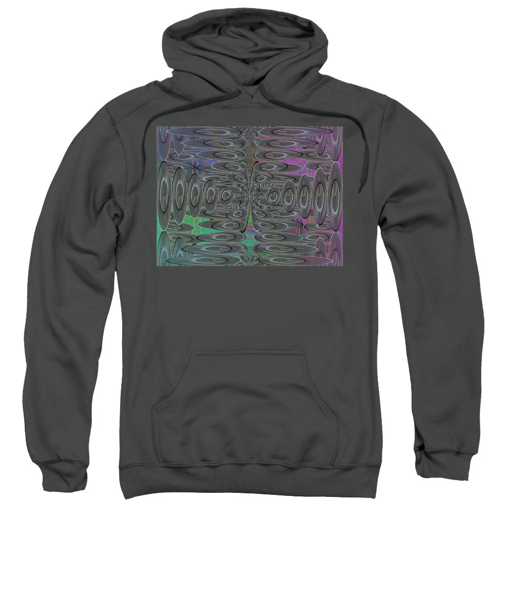 Platters Sweatshirt featuring the digital art Platter Pandemonium by Tim Allen