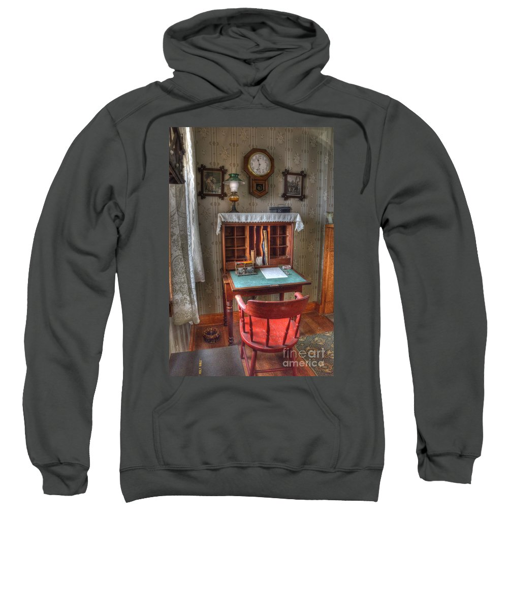 Point Loma Sweatshirt featuring the photograph Point Loma Lighthouse Writing Desk by Bob Christopher