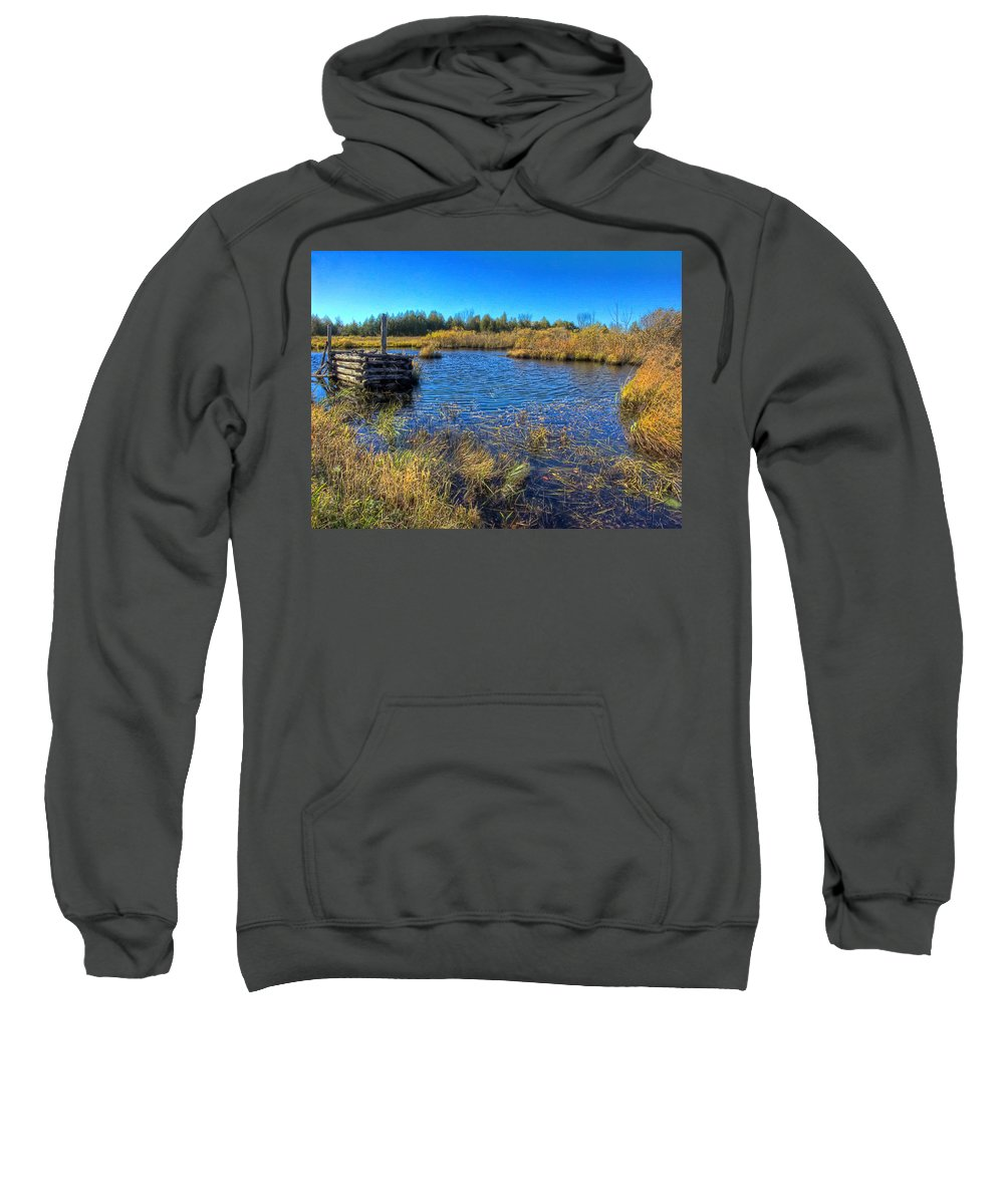 Xdop Sweatshirt featuring the photograph Pond 1 Today.psd by John Herzog