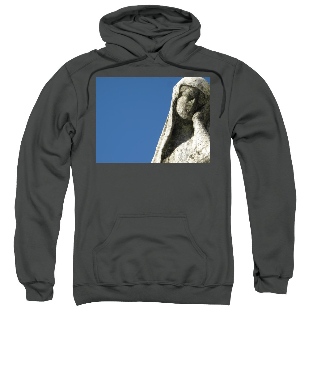 Graveyard Sweatshirt featuring the photograph Pondering by Michele Nelson
