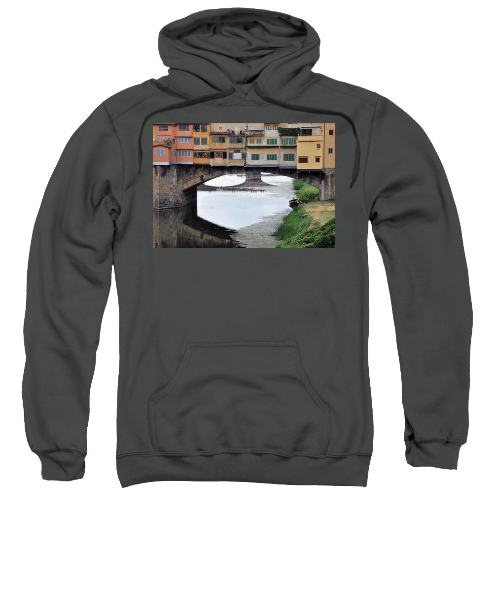 Bridge Sweatshirt featuring the photograph Ponte Vecchio 2 by Rich Bodane