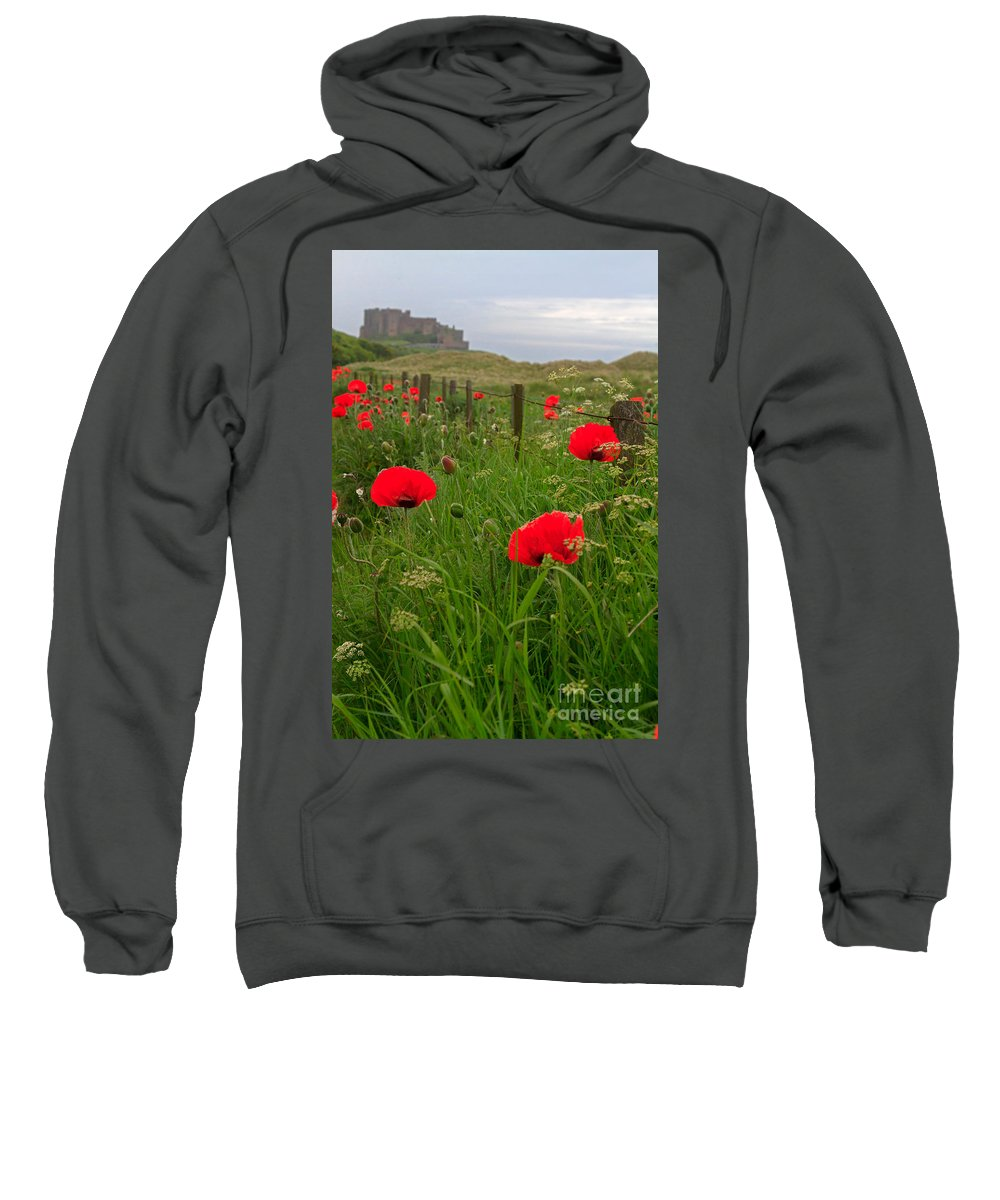 Poppies Sweatshirt featuring the photograph Poppies By The Roadside In Northumberland by Louise Heusinkveld