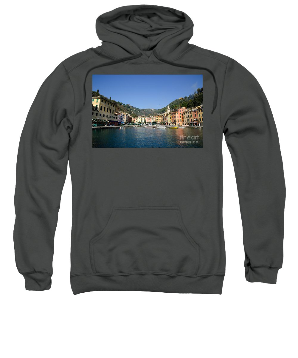 Portofino Sweatshirt featuring the photograph Portofino by Mats Silvan