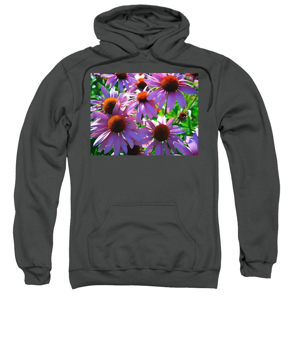 Sunflower Sweatshirt featuring the photograph Pretty Flowers by Steve McKinzie