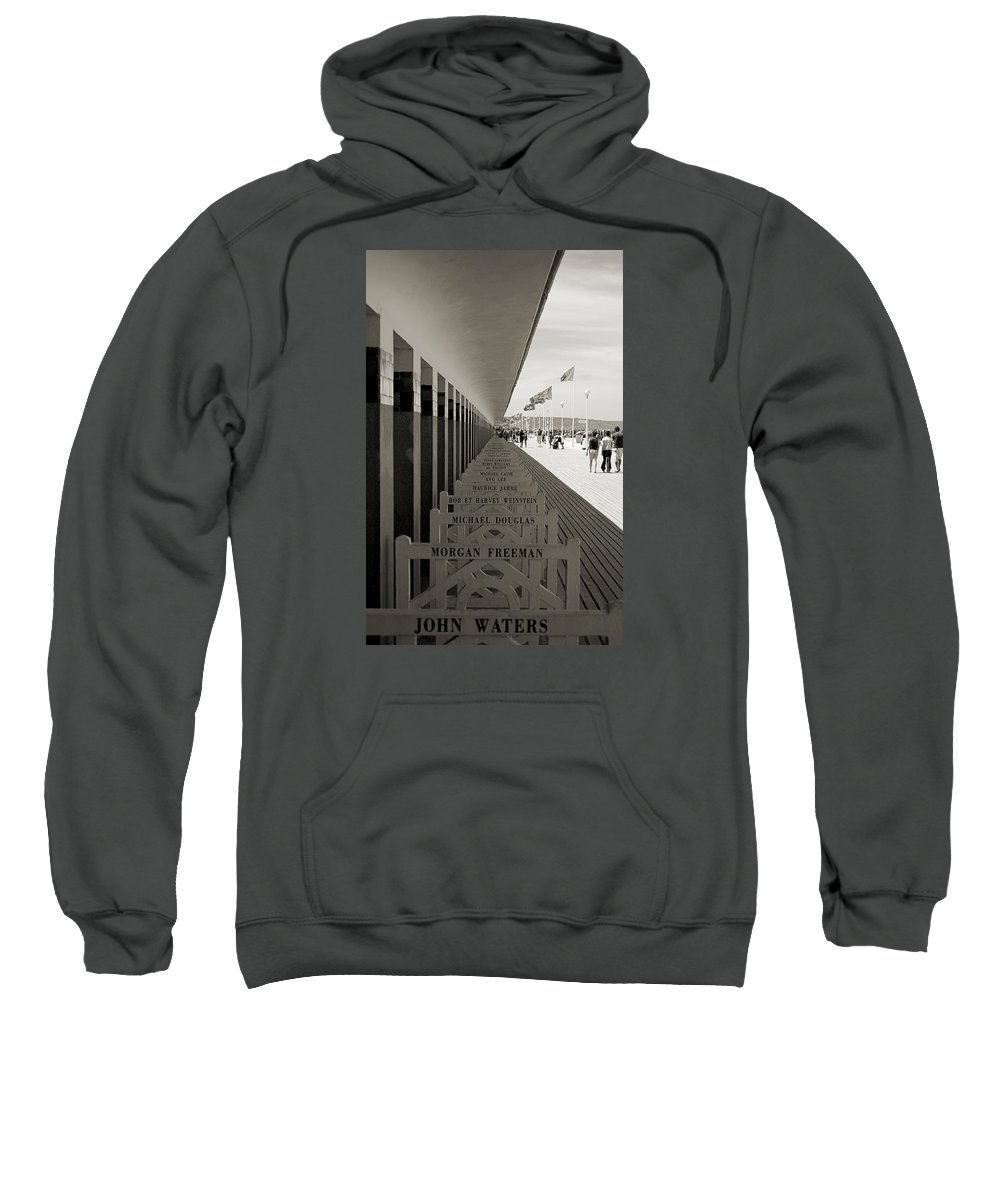Promenade Sweatshirt featuring the photograph Promenade Des Planches by RicardMN Photography