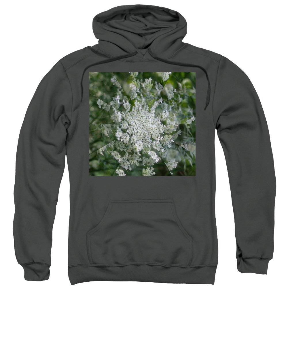 Sweatshirt featuring the photograph Queen Anne Pin Wheel by Barbara S Nickerson