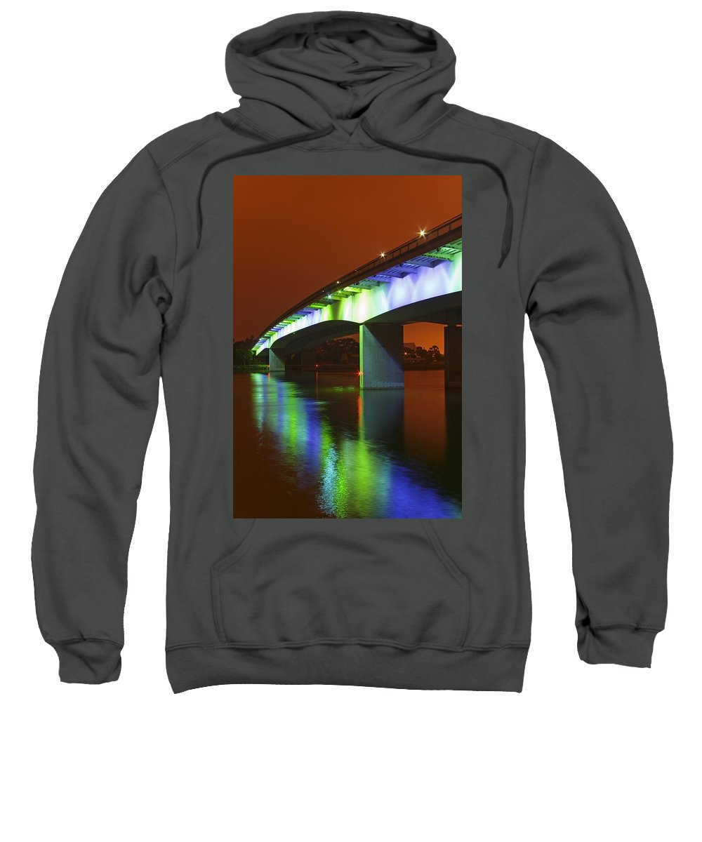 Body Of Water Sweatshirt featuring the photograph Queensway Bridge, California, Usa by Richard Cummins