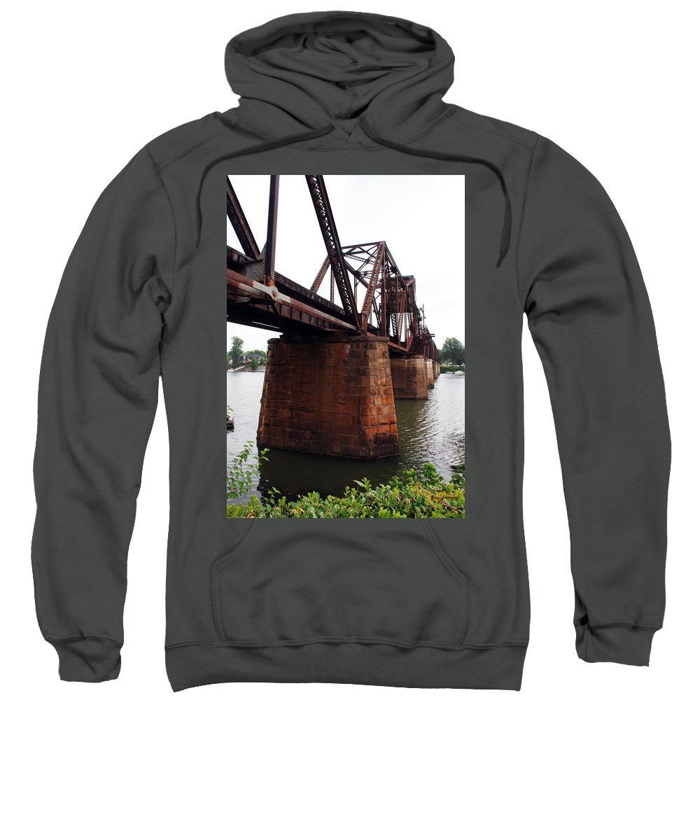 Water Sweatshirt featuring the photograph Railroad Bridge 1 by Kay Lovingood
