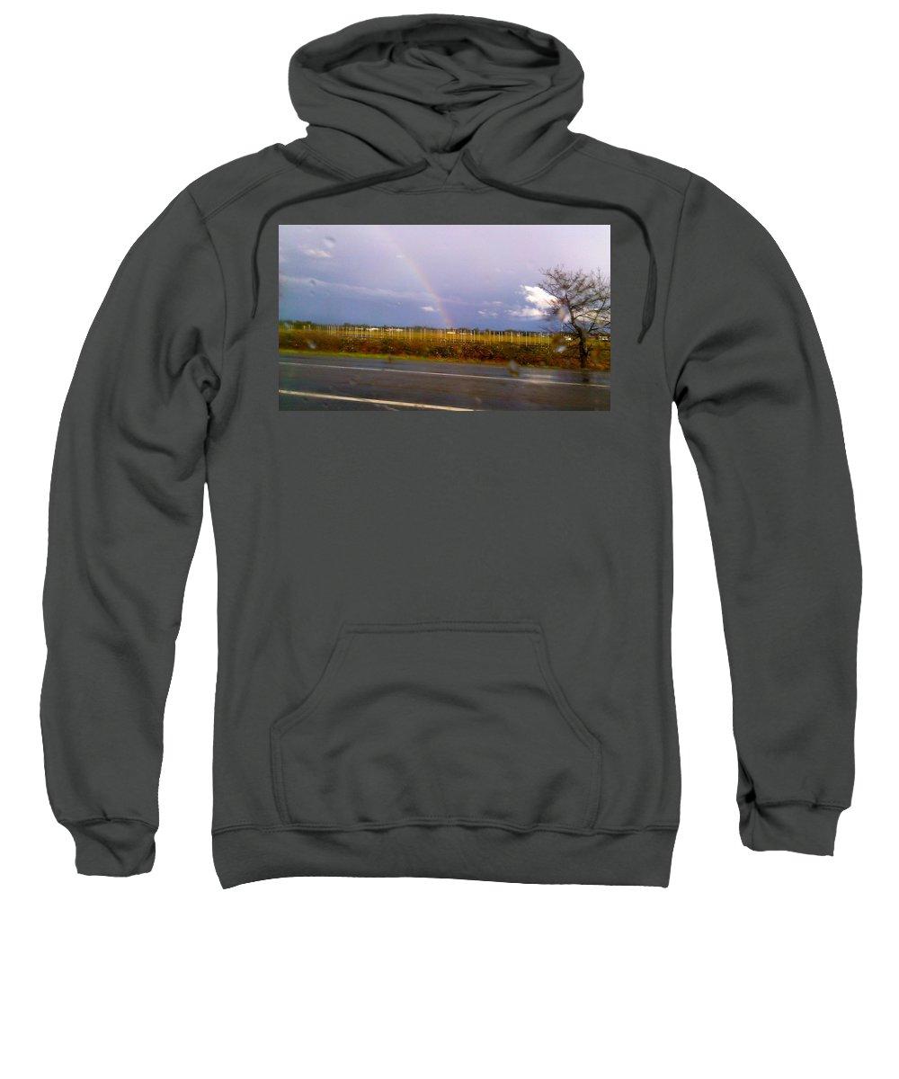 Rainbow Sweatshirt featuring the photograph Rainbow 2 by Linda Hutchins