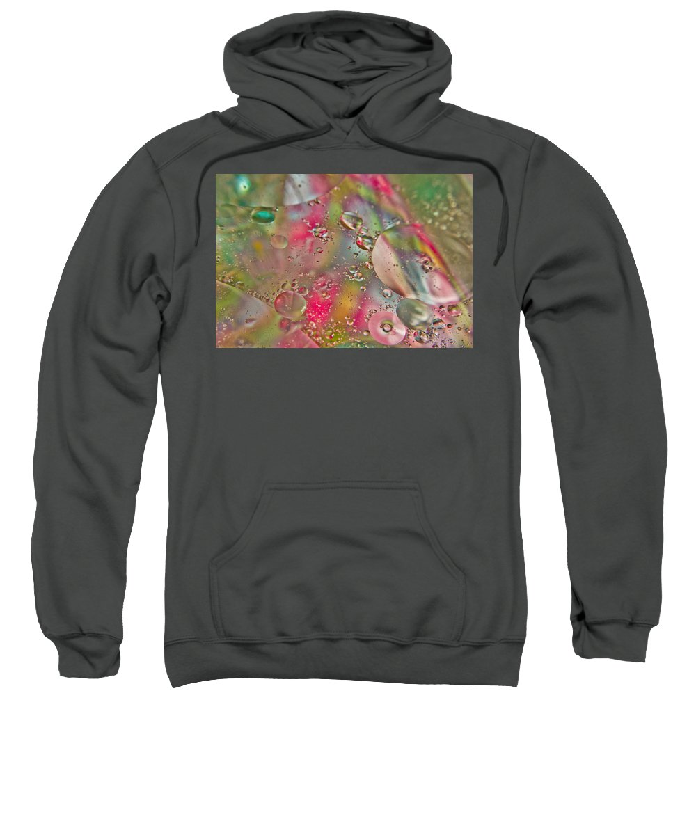 Abstract Sweatshirt featuring the photograph Rainbow Light by Sara Frank