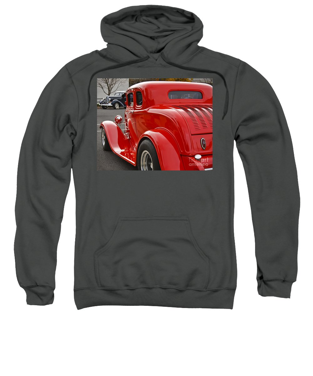 Classic Sweatshirt featuring the photograph Red Coupe by Dennis Hedberg