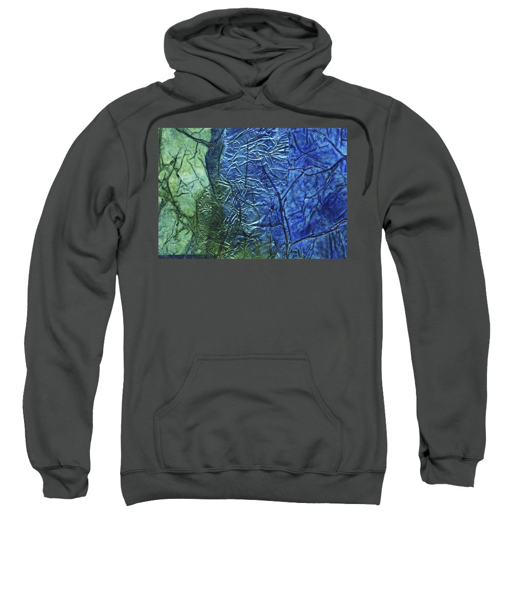 Abstract Sweatshirt featuring the mixed media Rhapsody Of Colors 60 by Elisabeth Witte