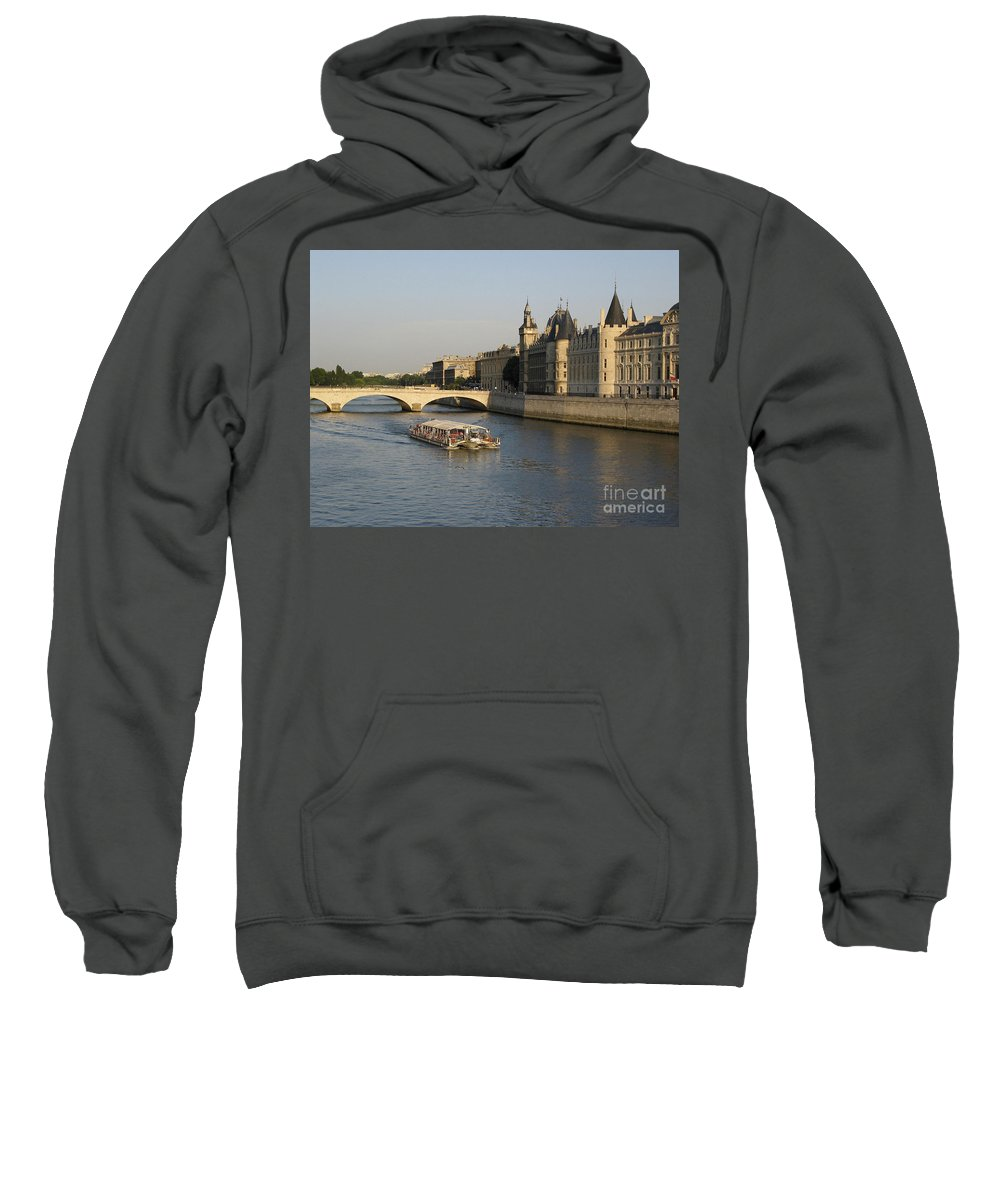 Architecture Sweatshirt featuring the photograph River Seine And Conciergerie. Paris by Bernard Jaubert