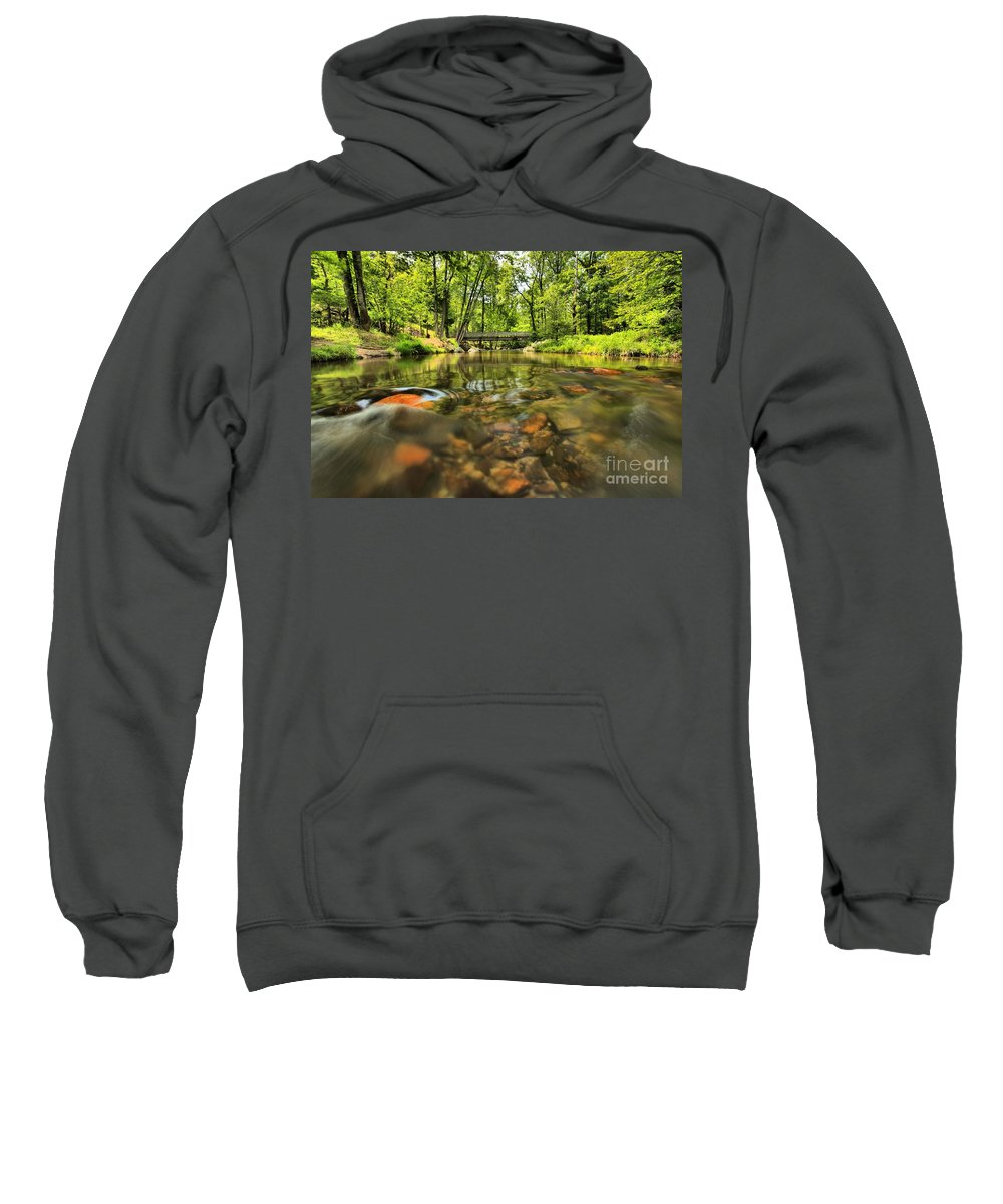 Stone Mountain State Park Sweatshirt featuring the photograph Rock Hole by Adam Jewell