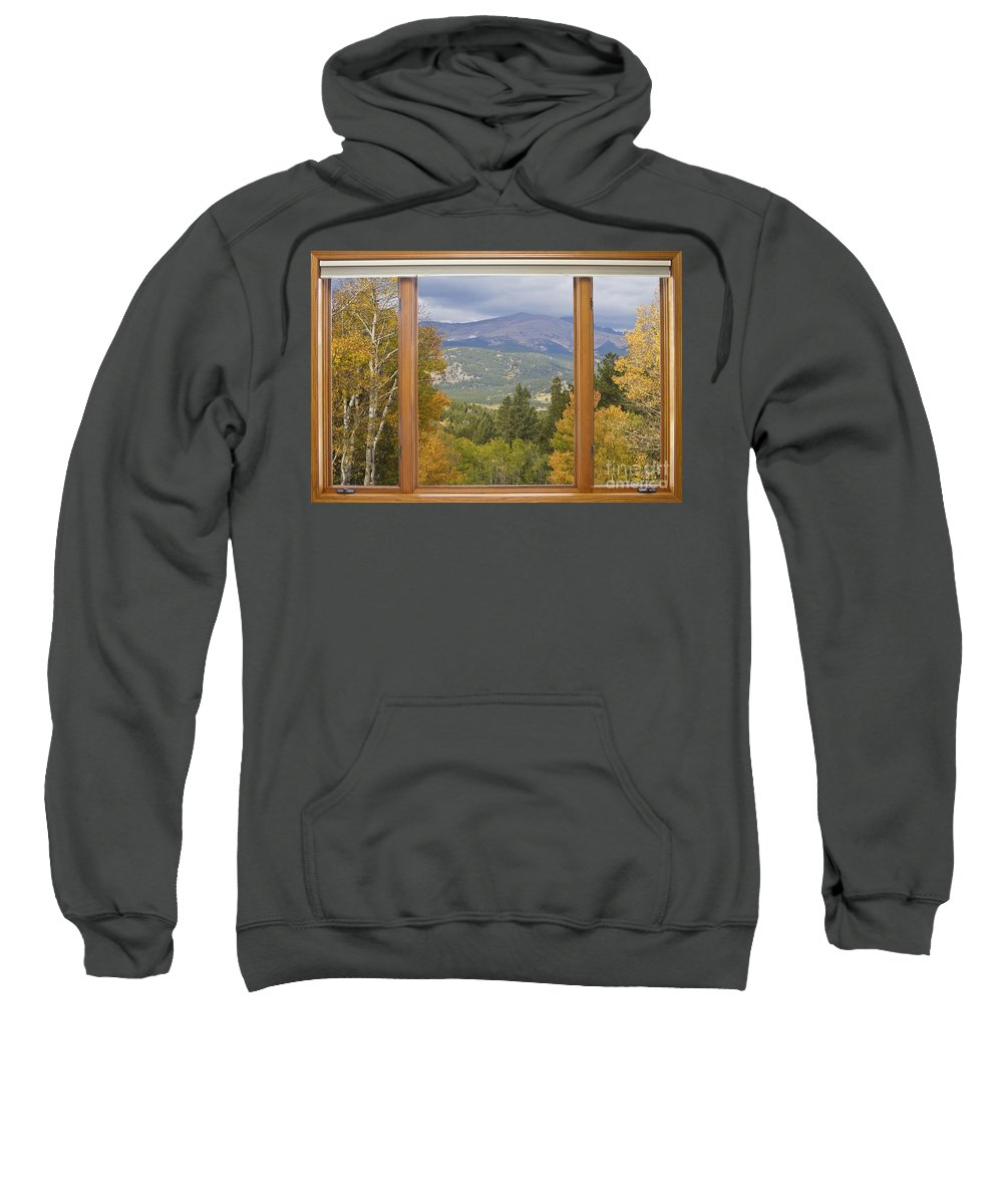 Windows Sweatshirt featuring the photograph Rocky Mountain Picture Window Scenic View by James BO Insogna