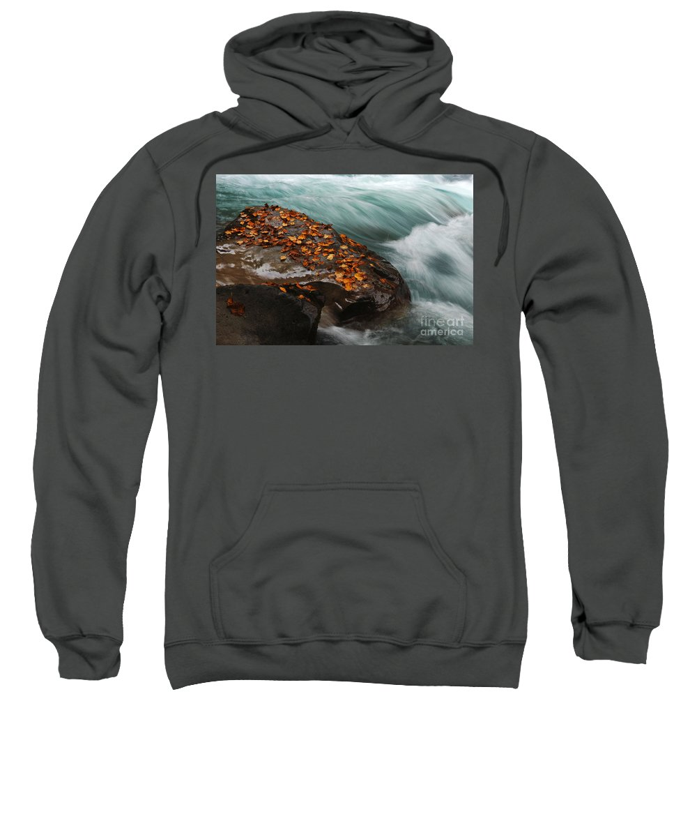 Canadian Rockies Sweatshirt featuring the photograph Rocky Mountain Stream by Bob Christopher