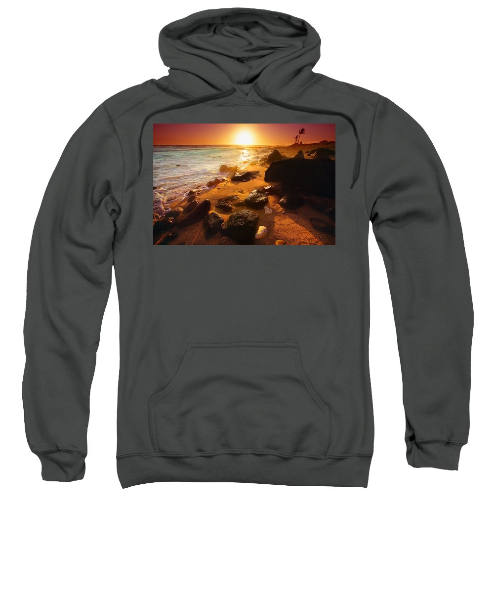 Beauty In Nature Sweatshirt featuring the photograph Rocky Shoreline In Hawaii by Don Hammond