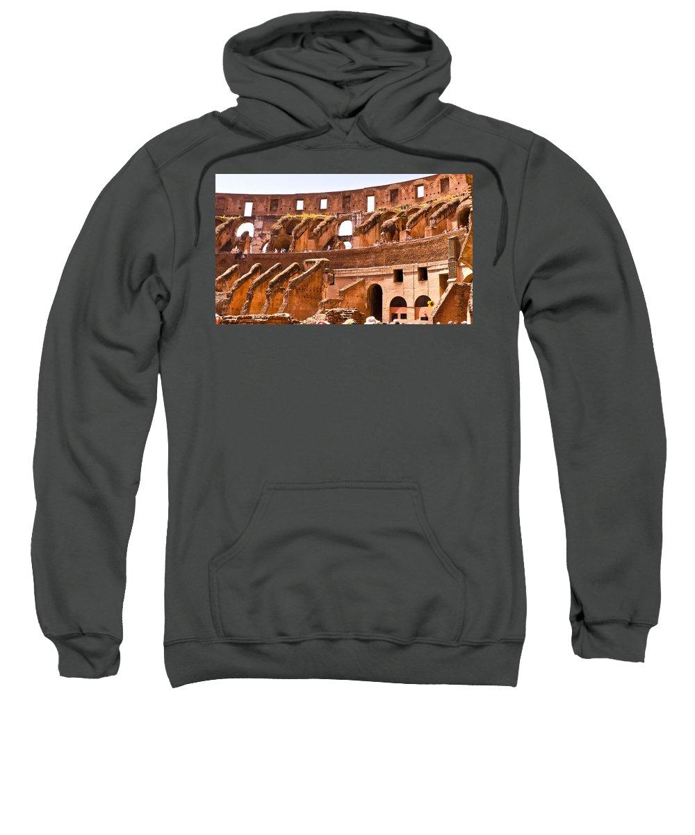 Rome Sweatshirt featuring the photograph Roman Coliseum Interior by Jon Berghoff