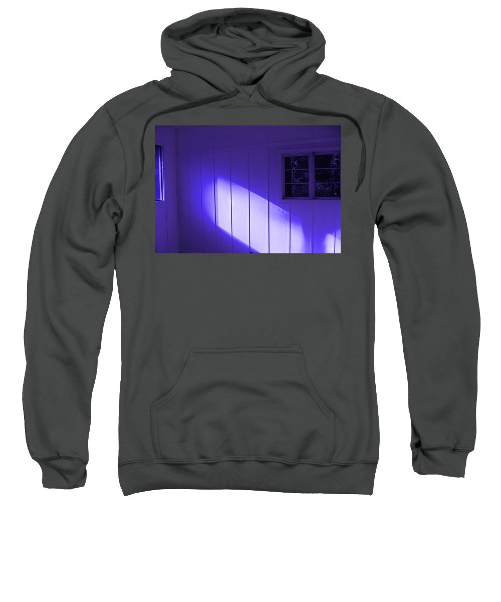 Ultra Violet Light In Room Sweatshirt featuring the photograph Room With A Mood by Kym Backland
