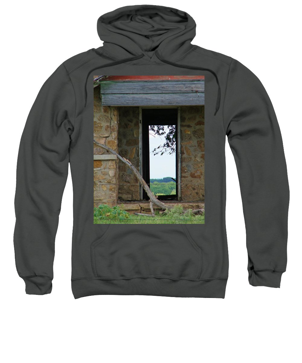 Door Sweatshirt featuring the photograph Room With A View by Gale Cochran-Smith