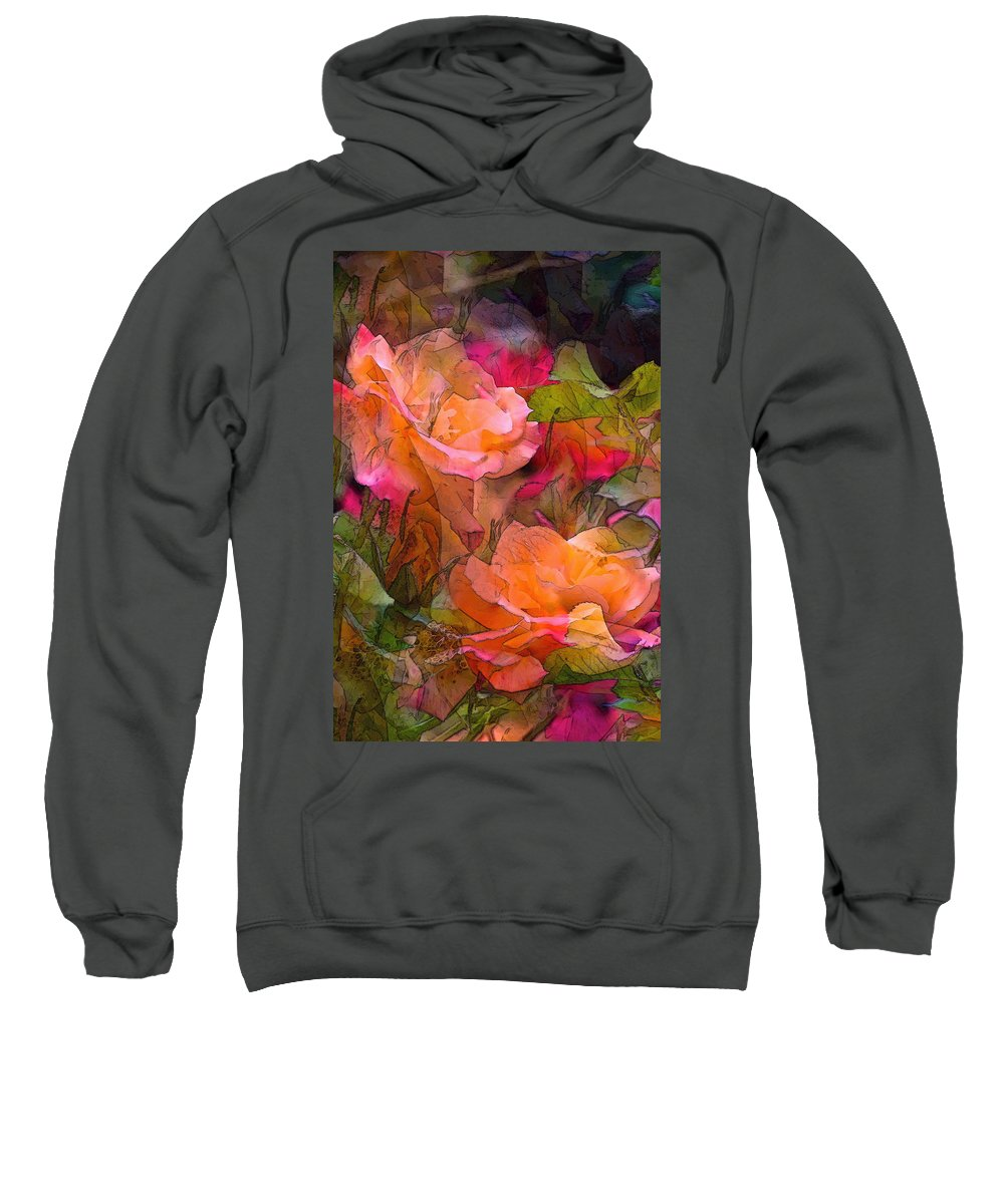 Floral Sweatshirt featuring the photograph Rose 146 by Pamela Cooper