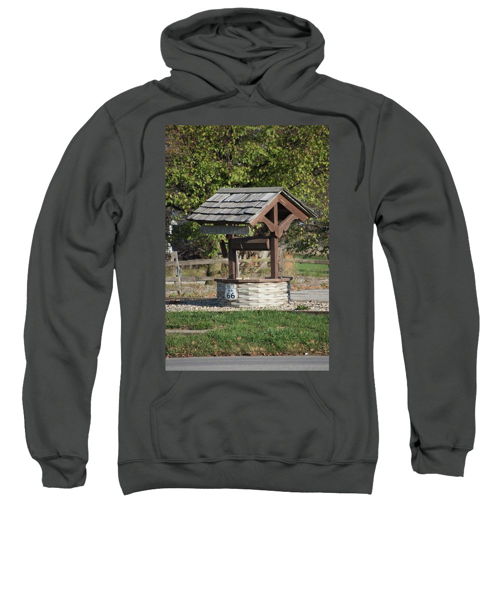 Mother Road Sweatshirt featuring the photograph Rt 66 Wishing Well by Thomas Woolworth