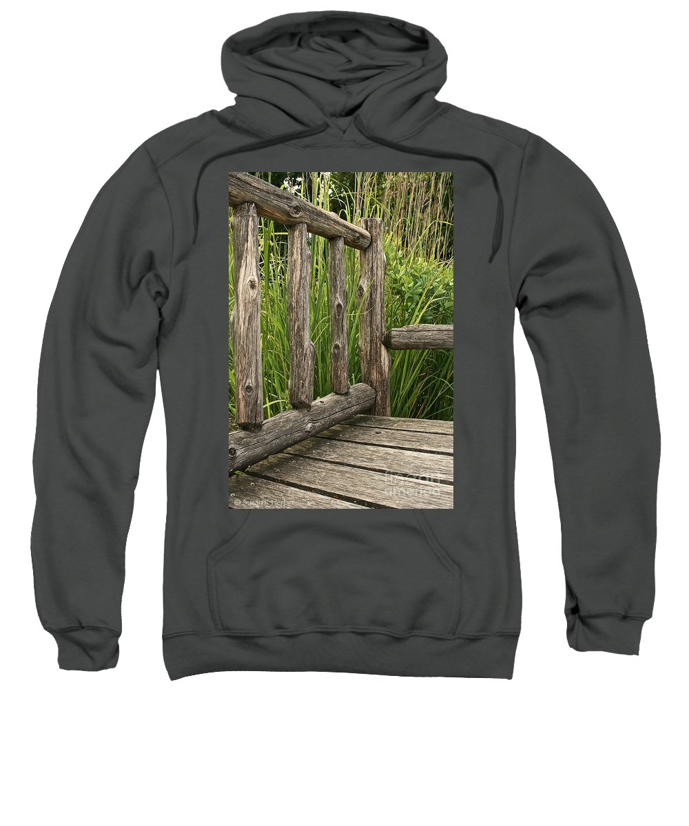 Outdoors Sweatshirt featuring the photograph Rustic Seating by Susan Herber