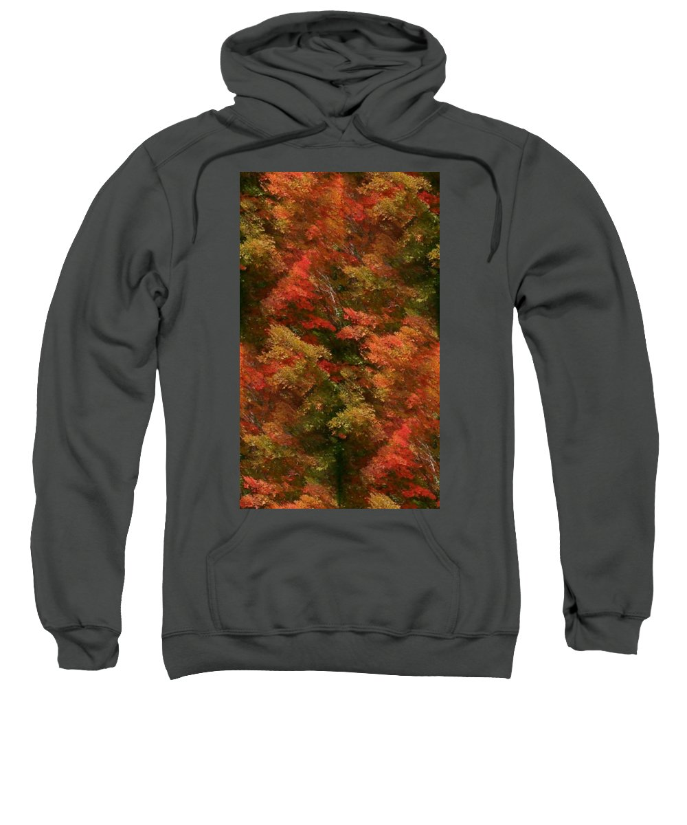 Sweatshirt featuring the photograph Rustling Autumn Leaves by Barbara S Nickerson