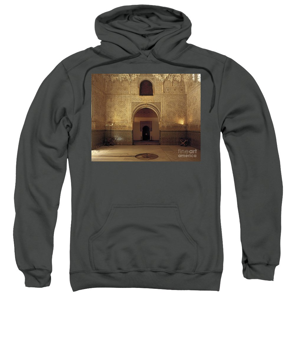The Alhambra Sweatshirt featuring the photograph Sala De Las Dos Hermanas by Guido Montanes Castillo
