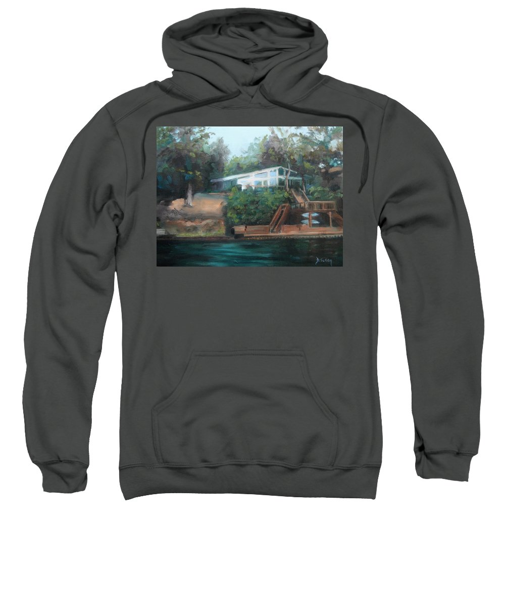 Landscape Sweatshirt featuring the painting Sally's Hideaway by Donna Tuten