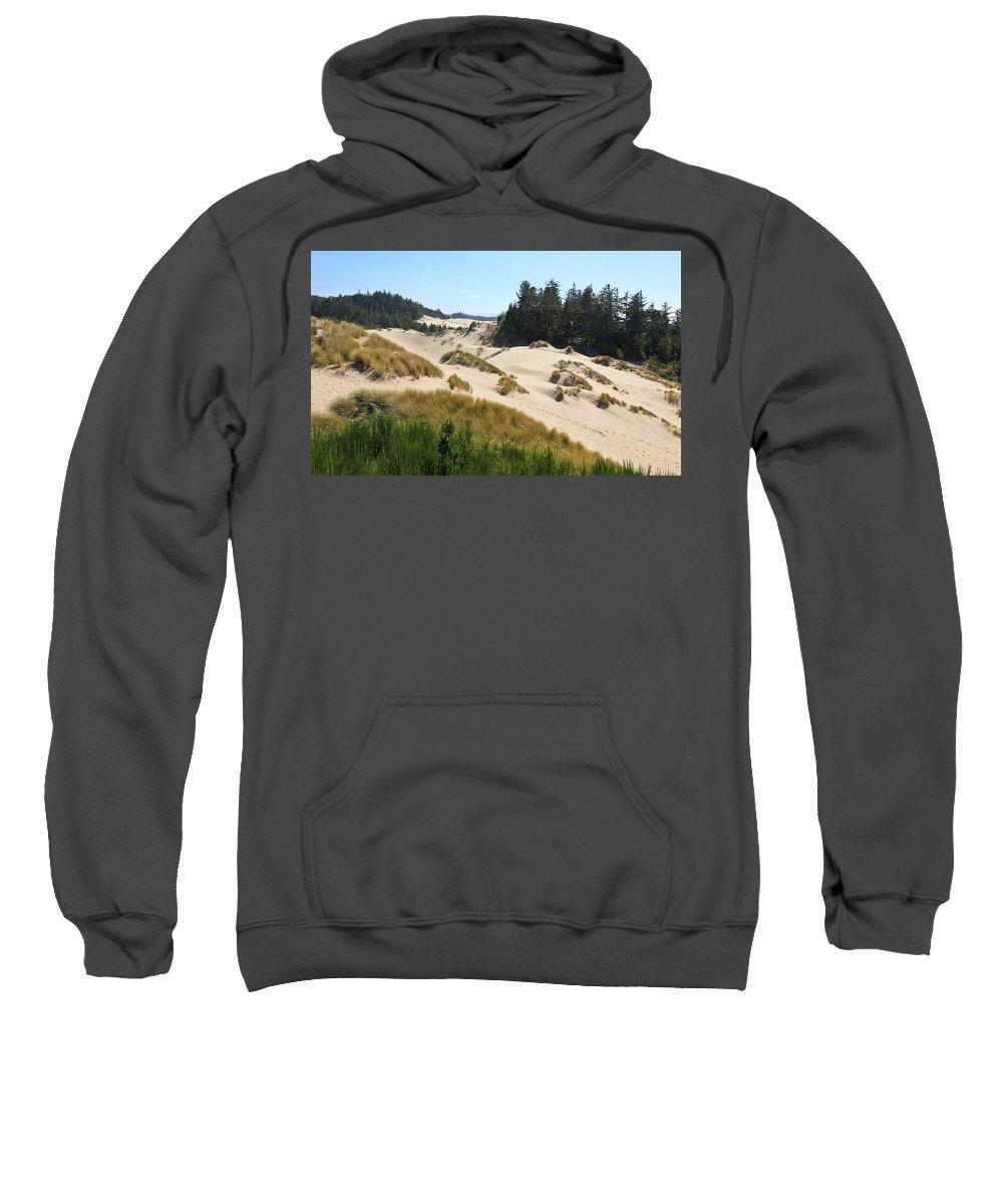 Sand Dunes Sweatshirt featuring the photograph Sand Dunes by Athena Mckinzie