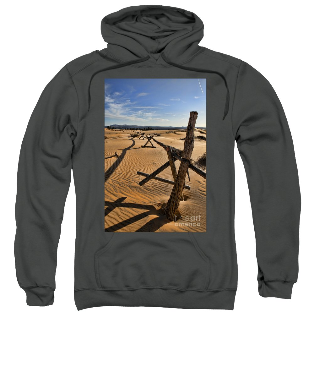 Coral Pink Sand Dunes Sweatshirt featuring the photograph Sand by Heather Applegate
