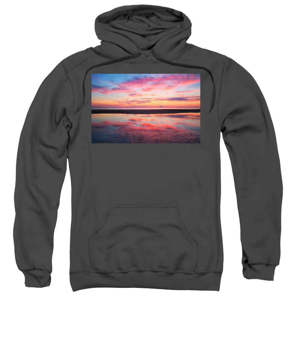 Atlantic Beach Sweatshirt featuring the photograph Sandz-a-bar by Phil Cappiali Jr