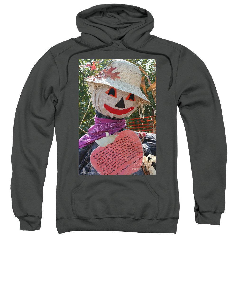 Outdoors Sweatshirt featuring the photograph Scarecrow Andy by Susan Herber