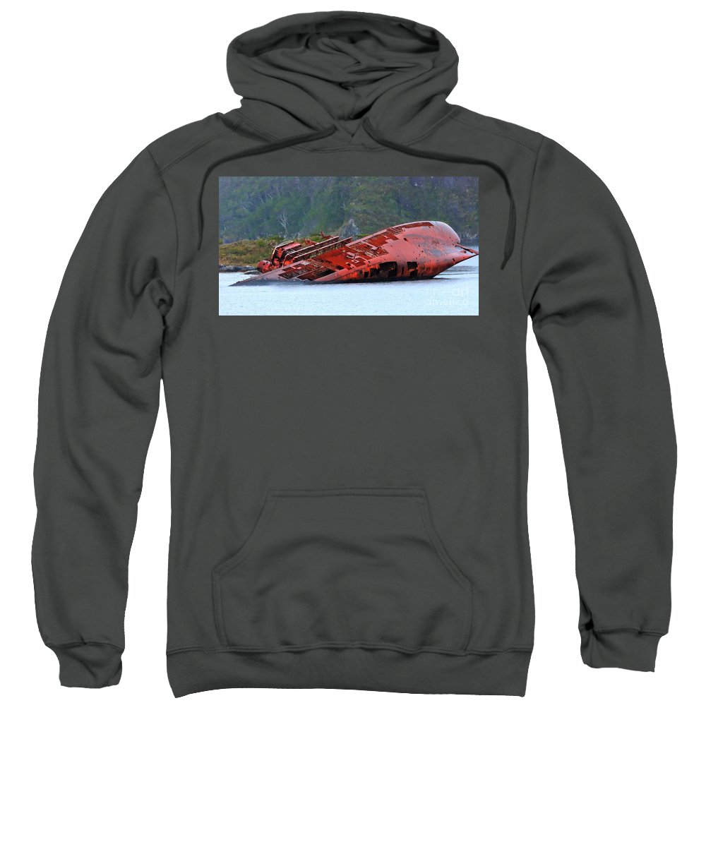 Sea Wreck Sweatshirt featuring the photograph Scipwraec by Tap On Photo