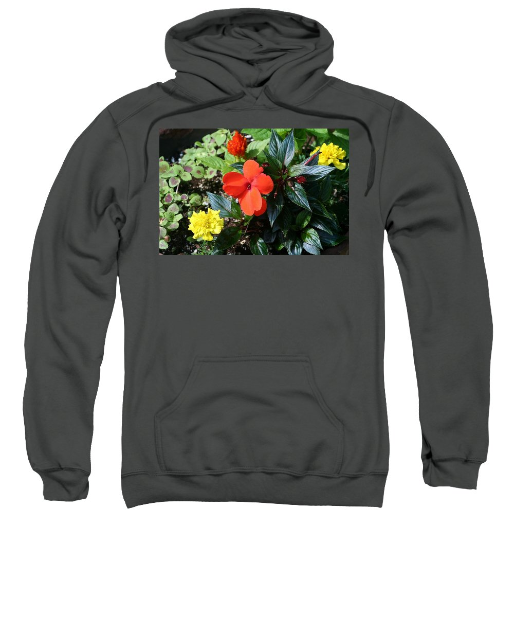 Sweatshirt featuring the photograph Seasonal Bouquet by Barbara S Nickerson